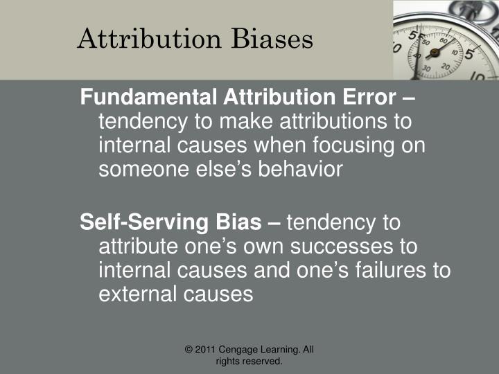 Attribution Biases