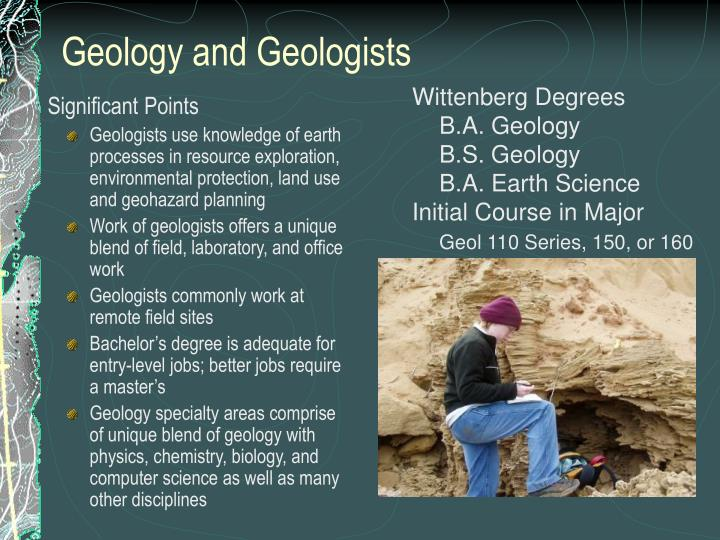 geology and geologists