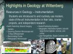 highlights in geology at wittenberg2