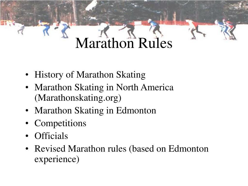 marathon rules l.