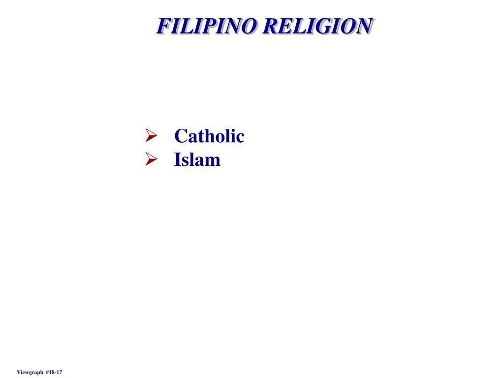 FILIPINO RELIGION