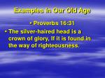 examples in our old age2