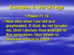 examples in our old age3