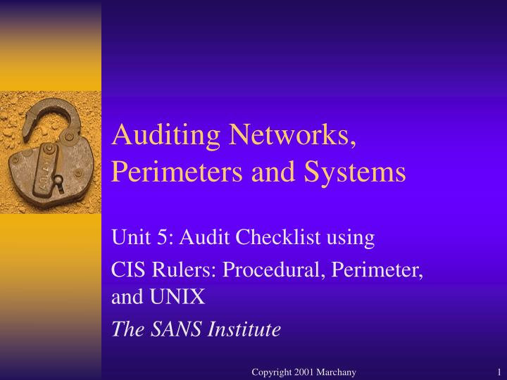 auditing networks perimeters and systems n.