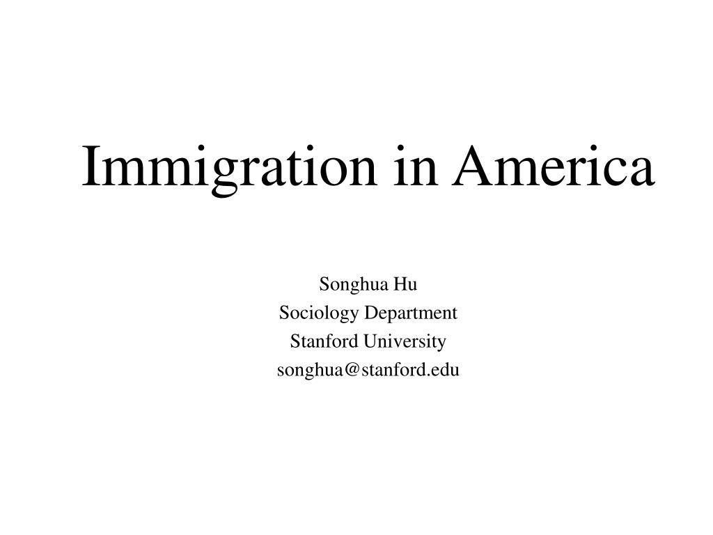immigration in america l.