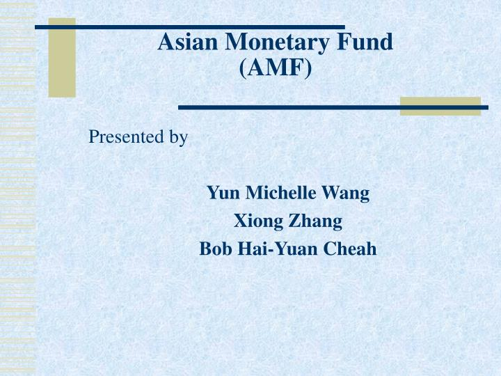 asian monetary fund amf n.