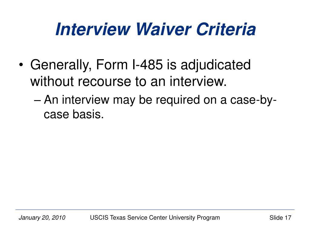 PPT - Asylum-based Form I-485, Application to Register