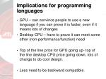 implications for programming languages