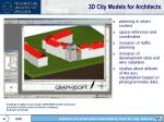 3d city models for architects