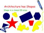 architecture has shapes
