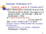 example evaluation of f given r i 1 and ki e s boxes and p