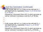 sub key generation continued1