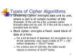 types of cipher algorithms