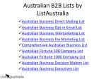 australian b2b lists by listaustralia