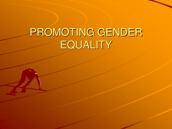 promoting gender equality n.