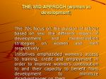 the wid approch women in development
