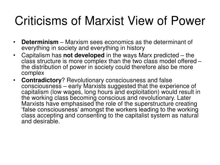 marxist model of power