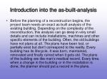 introduction into the as built analysis3