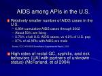 aids among apis in the u s