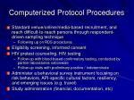 computerized protocol procedures
