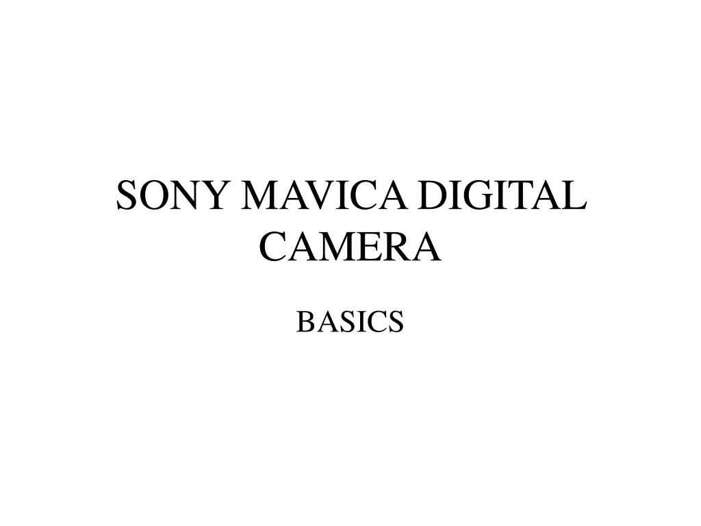 sony mavica digital camera l.