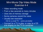 mini movie clip video mode exercise 4 4
