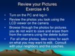 review your pictures exercise 4 5