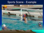 sports scene example