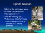 sports scenes