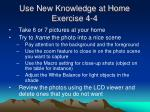 use new knowledge at home exercise 4 4