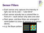 sensor filters