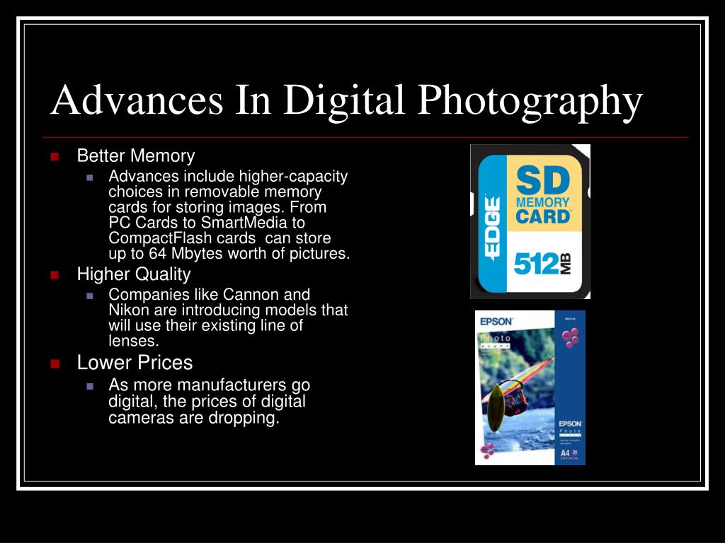 Advances In Digital Photography