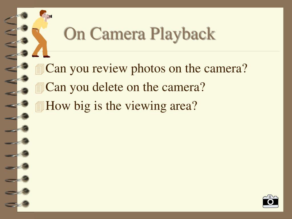 On Camera Playback