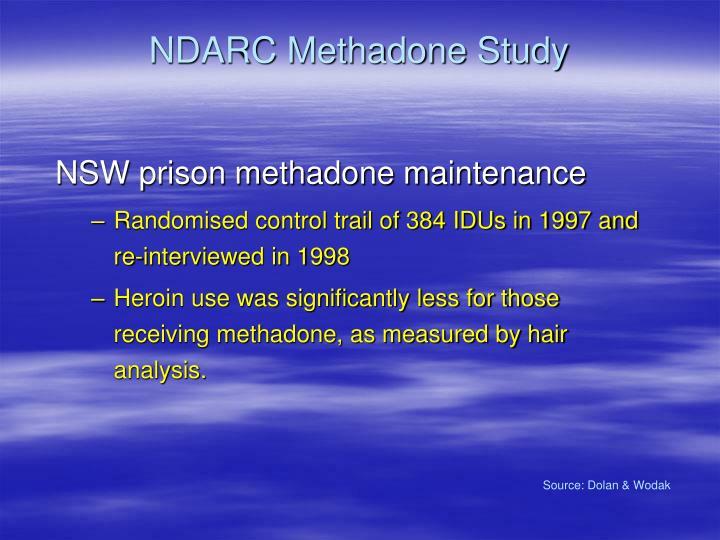 NDARC Methadone Study