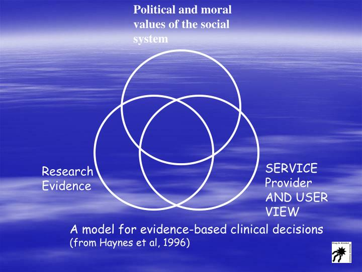 Political and moral values of the social system