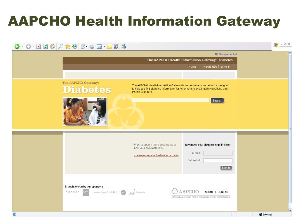 AAPCHO Health Information Gateway