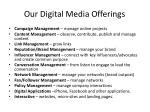 our digital media offerings