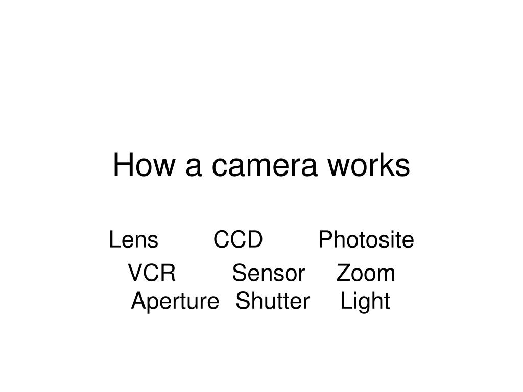 how a camera works l.