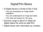 digital film basics