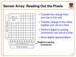 sensor array reading out the pixels