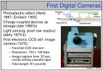 first digital cameras