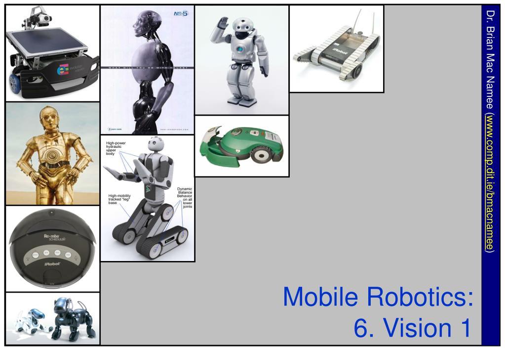 mobile robotics 6 vision 1 l.