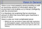 vision in general