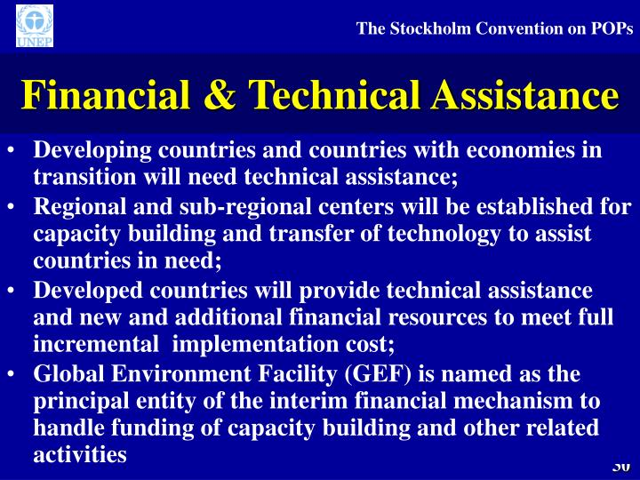 Financial & Technical Assistance