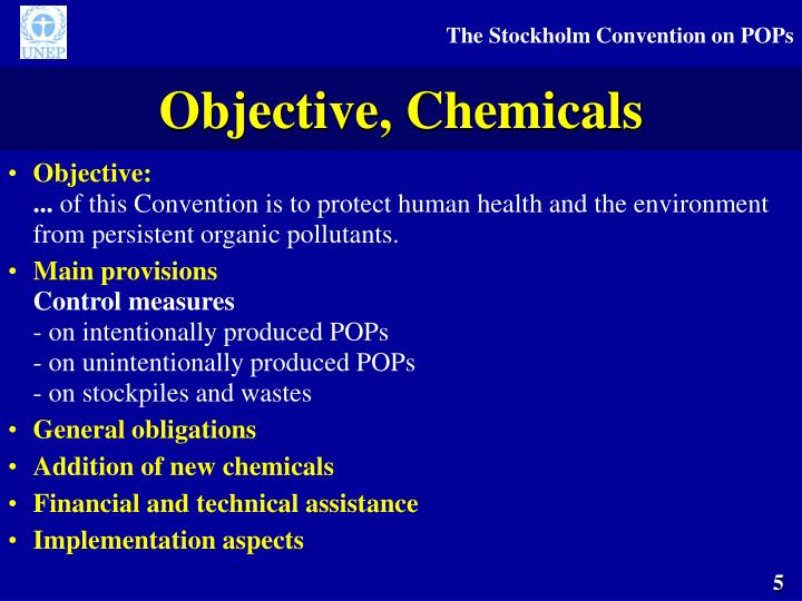 Objective, Chemicals