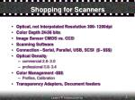 shopping for scanners