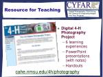 resource for teaching