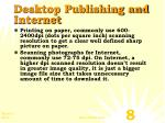 desktop publishing and internet