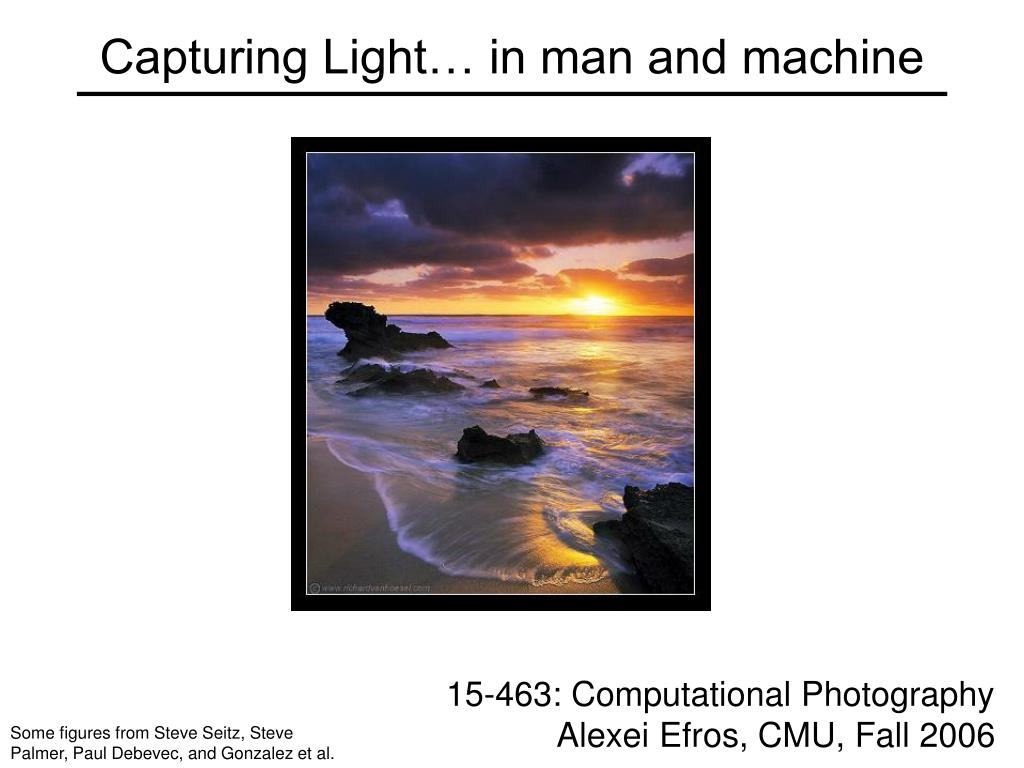 capturing light in man and machine l.