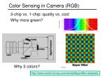 color sensing in camera rgb